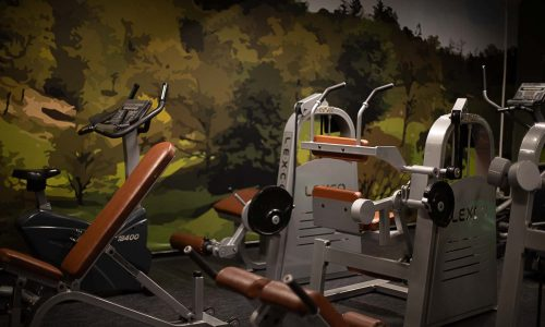 Fitnessrum og træningslokale